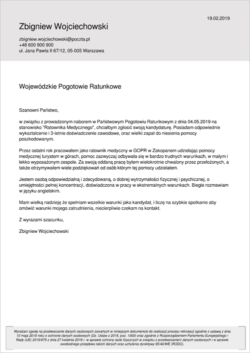 List Motywacyjny Gotowy Informatyk
